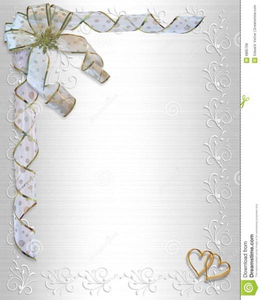 Wedding Invitation Border Satin Stock Illustration