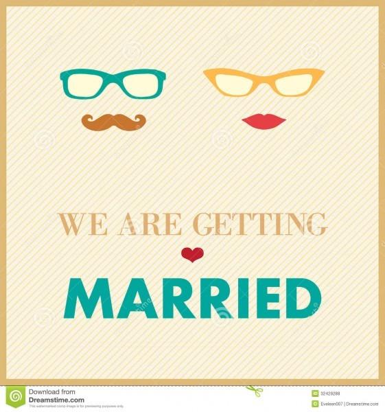 Wedding Invitation Card Template Stock Vector