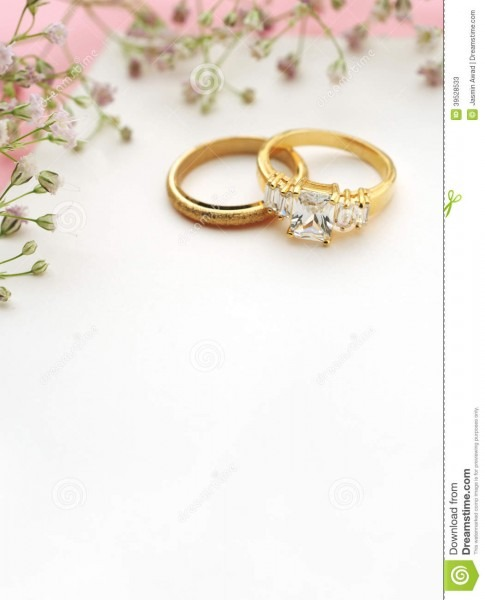 Wedding Invitation With Copy Space Stock Image
