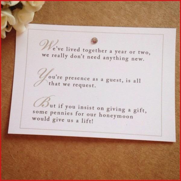 Wording For Wedding Gift Money