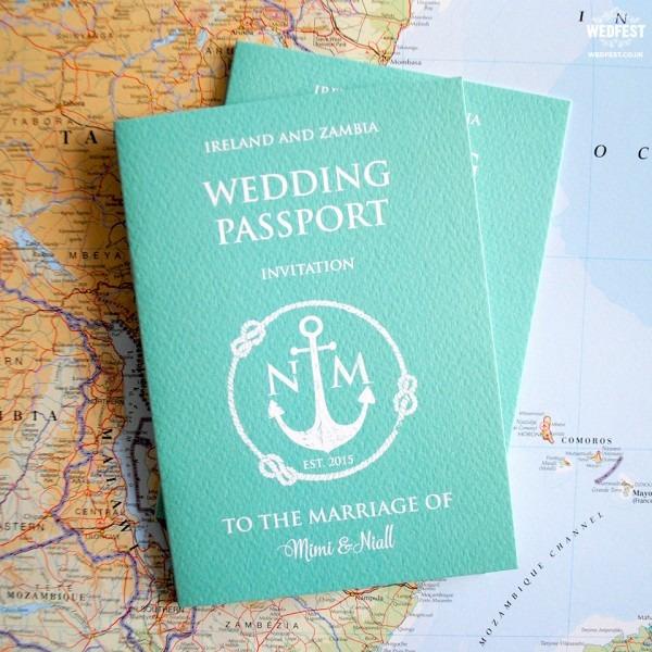 Wedding Invitation Passport Style From Wedfest Is Astounding Ideas