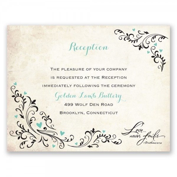 wedding invitations and reception cards