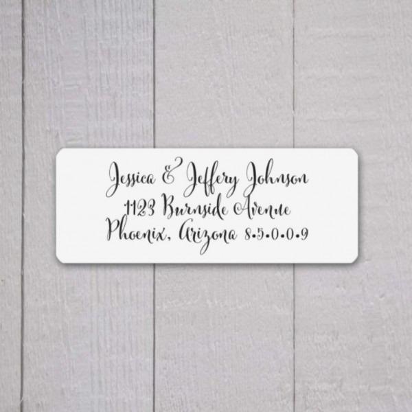 Wedding Invitation Return Address Labels, Wedding Stickers, Return