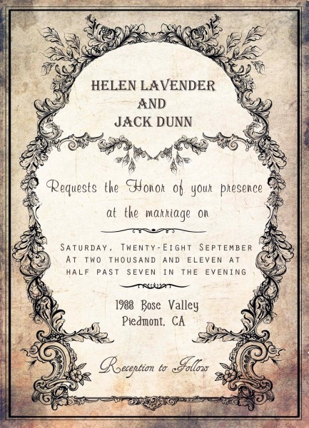 100+ Vintage Invitation Template Vector Free Download  9 Vintage