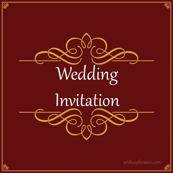 Indian Wedding Invitation Wording For Brothers Marriage Impressive