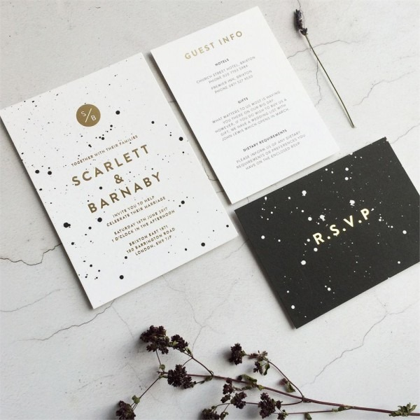 Modern Wedding Invitation Wording For Friends