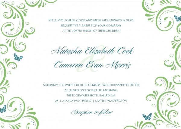 Wedding Invitations Templates Word Invitations Templates Email