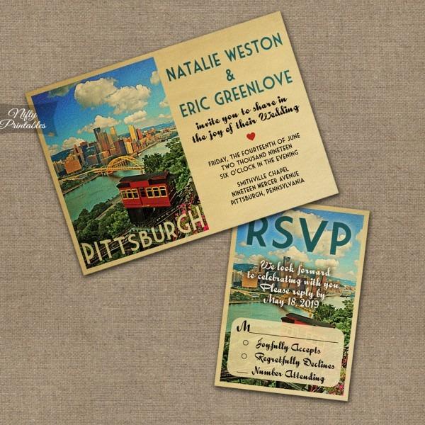 Pittsburgh Wedding Invitations Vtw