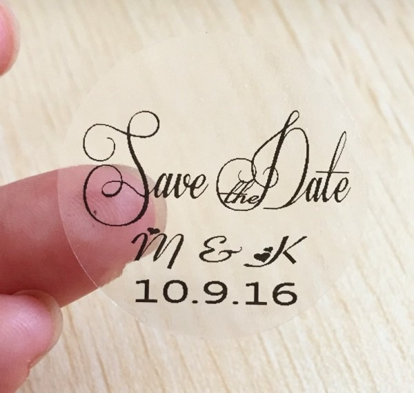 Wedding Stickers For Invitations Ideas 120 Pieces 3cm Customize
