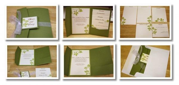 Bits Of Paper  Pocket Wedding Invitation
