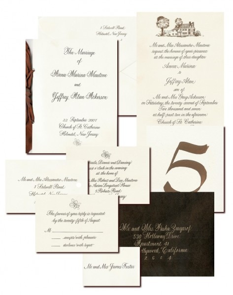 Wedding Calligraphy, Custom Wedding Invitations And Wedding Sets
