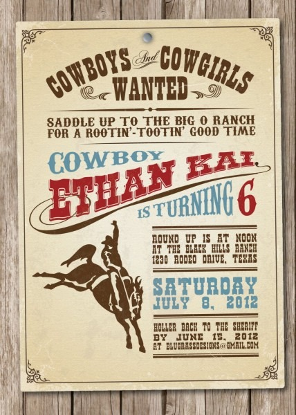 Western Theme Party Invitation Wording