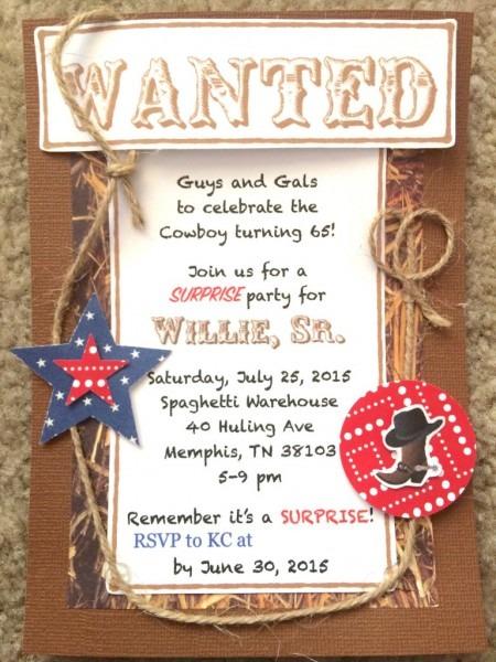 Western Themed Cowboy Birthday Party Invitation Nice Cowboy