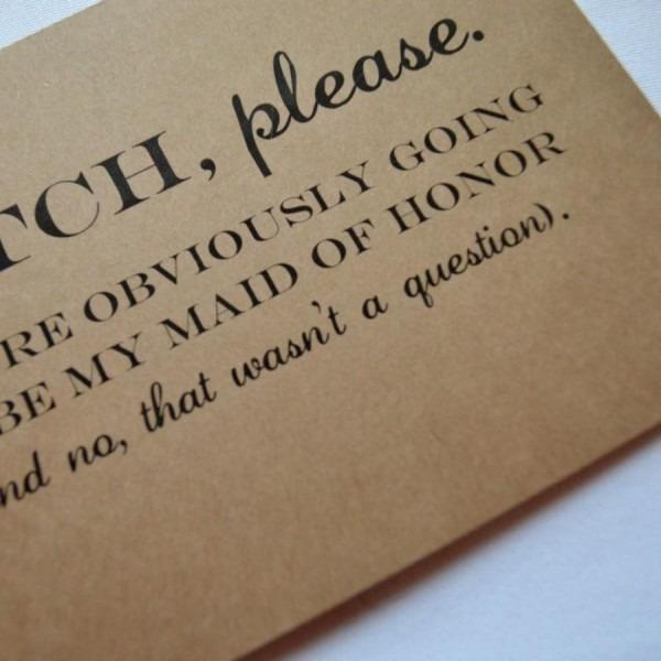Will You Be My Maid Of Honor Card Bridesmaid Card Funny Bridesmaid