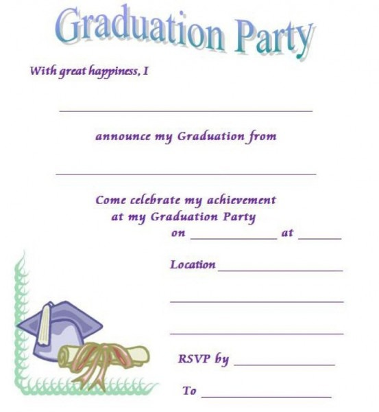 002 Graduation Invitation Templates Template Ideas Free Printable
