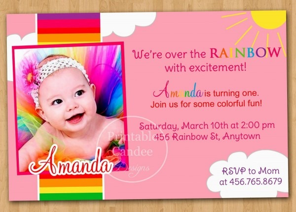 004 1st Birthday Invitation Template Ideas First Invitations