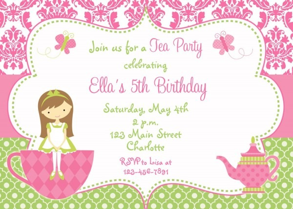004 Tea Party Invitation Template Free Ideas ~ Ulyssesroom