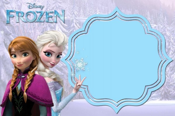 004 Template Ideas Frozen Invitation Templates Free ~ Ulyssesroom