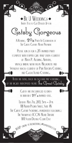 007 Template Ideas Great Gatsby Party Invitation Free Fresh Design