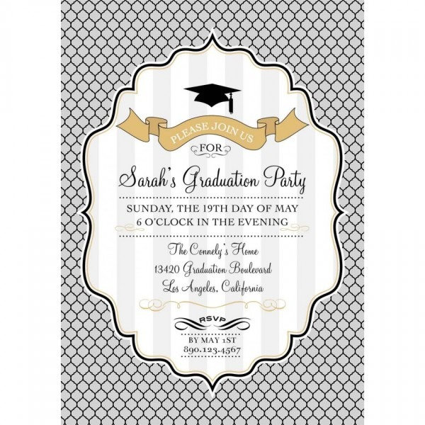 008 Graduation Invite For The Perfection Of Your Idea In