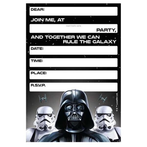 008 Template Ideas Star Wars Birthday Invitation ~ Ulyssesroom