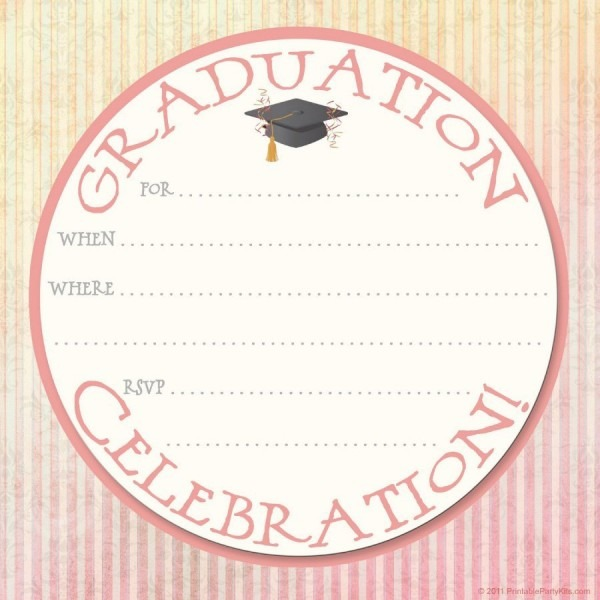 009 Free Printable Graduation Announcement Template Invitation