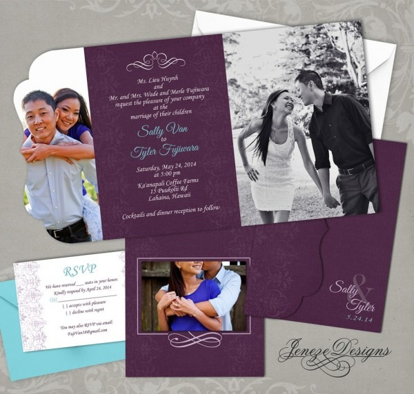 011 Two Fold Invitation Template With Card X Cool Ideas Tri