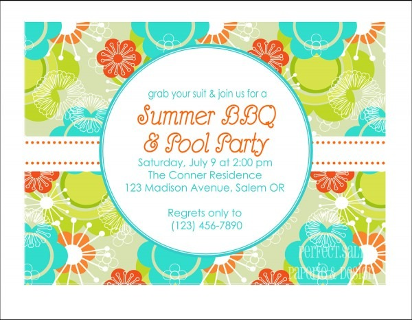 014 Summer Party Invitationshis May Suitable Forhe Source Of