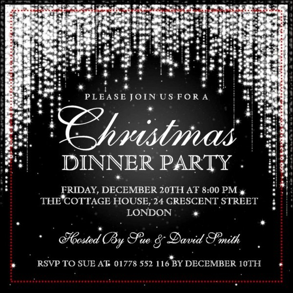 017 Classy Christmas Invitations Good Formal Party Invitation