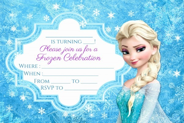 025 Frozen Birthday Invites Template Ideas Card Te Cool Party