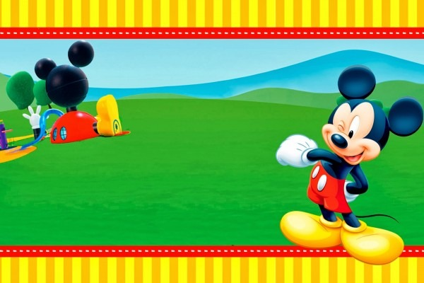 028 Mickey Mouse Birthday Invitations Template Clubhouse Printable