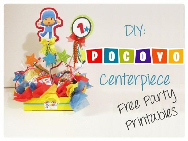 Diy  Pocoyo Centerpiece Easy With Free Printables