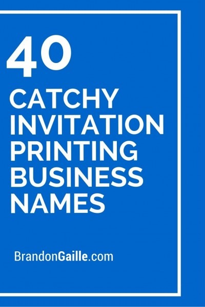 125 Catchy Invitation Printing Business Names