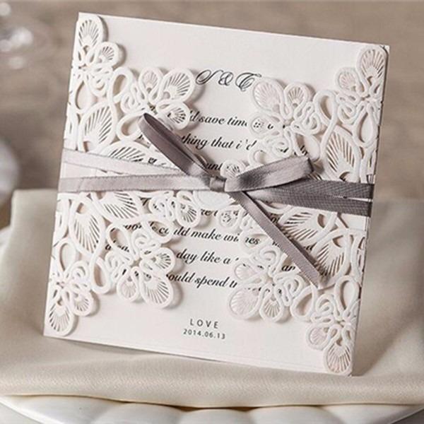 Ids  10pcs Folding Wedding Invitation Cards Kit With Envelopes