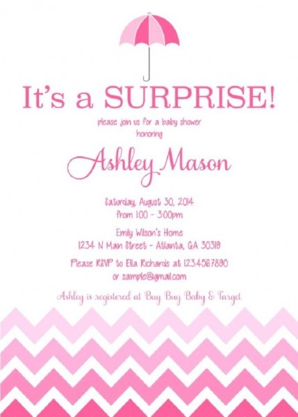 Surprise Baby Shower Invitation Card