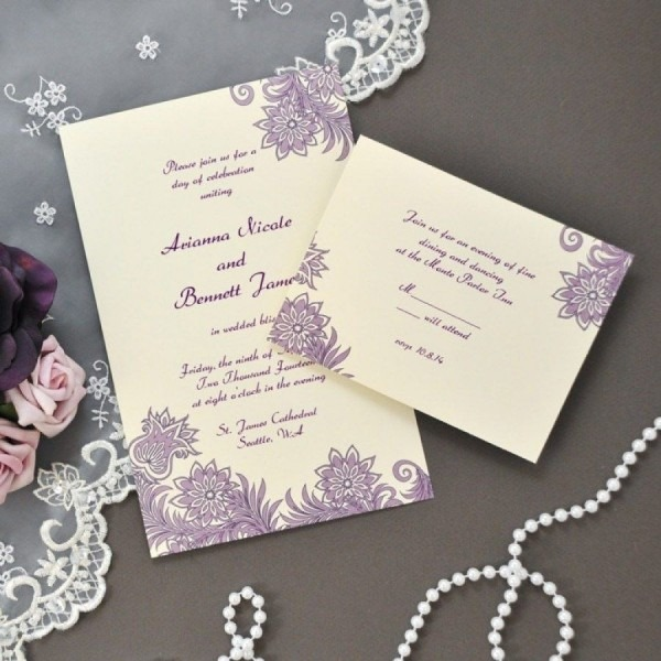 32+ Elegant Photo Of Wedding Invitations Staples