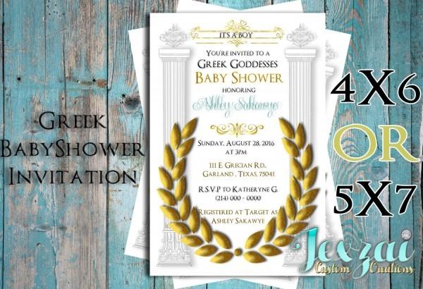 Greek Baby Shower Invitation
