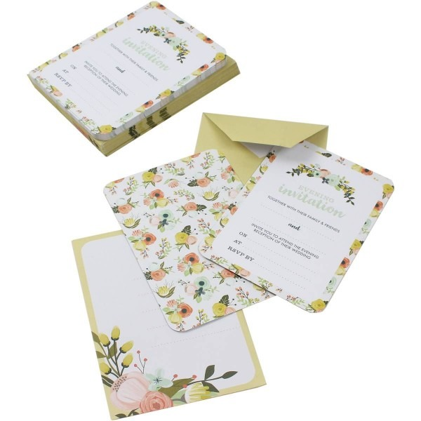 All You Need Is Love Evening Invitations And Envelopes 25 Pack