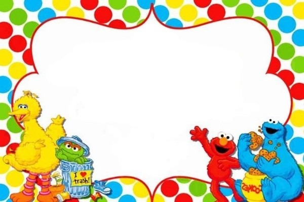 Sesame Street Party Invitation Template