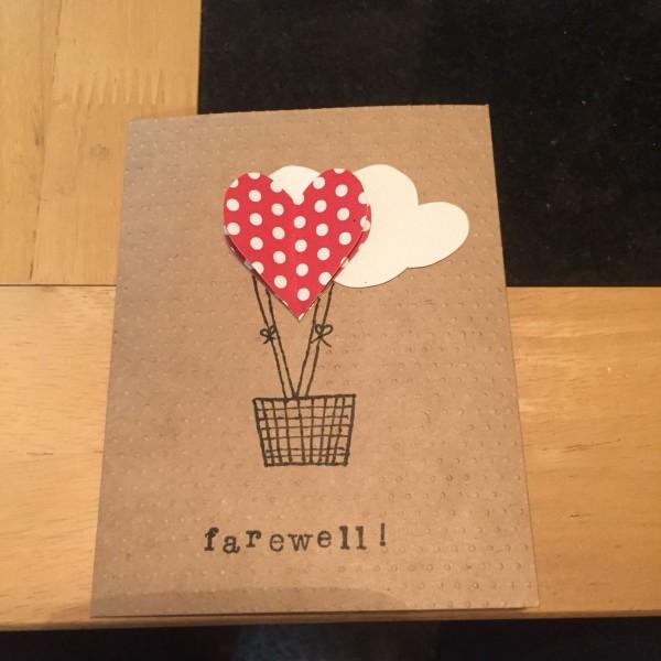Handmade Farewell Card