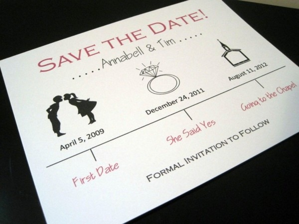 A Cute Save The Date Timeline