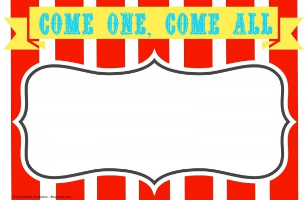 Free Free Printable Circus Birthday Invitations Template