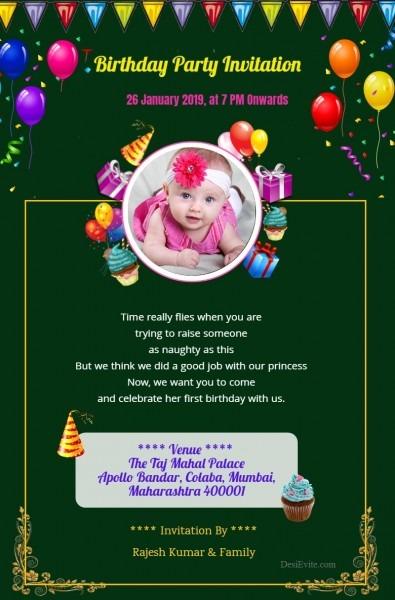 Free Birthdays Invitation Card & Online Invitations