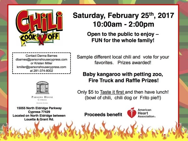 Active Life Dentistry 2017 Phc Chili Cookoff Invite