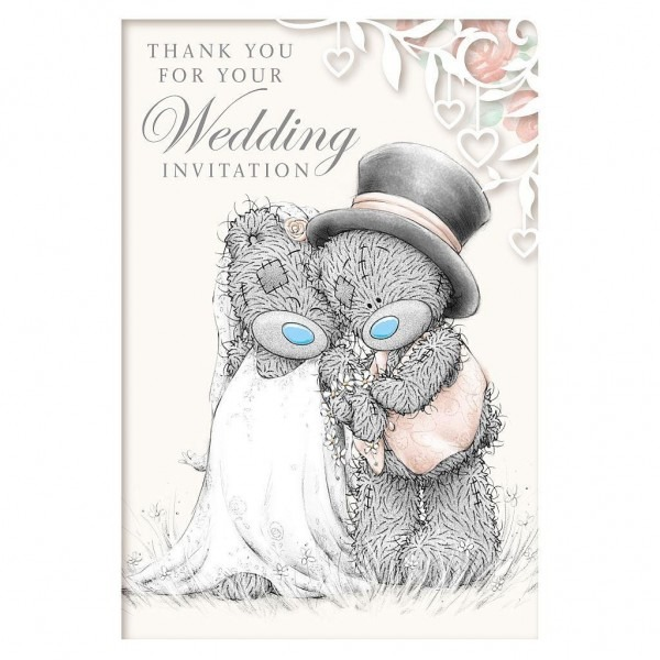 Me To You Wedding Invitation Acceptance Card