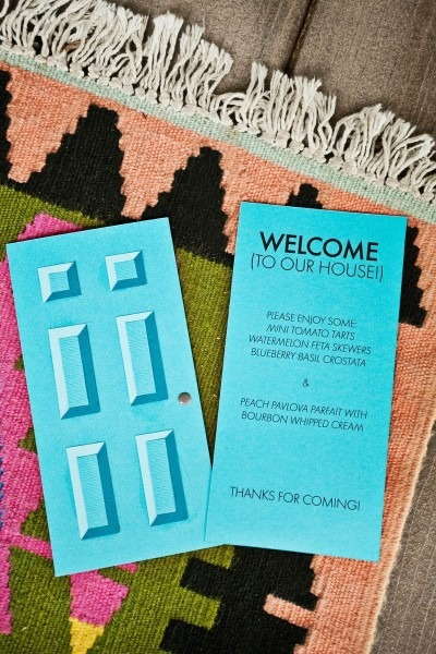 Our Housewarming Door Menu Diy (template Included