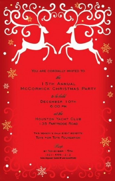 Christmas Party Invitations Staples