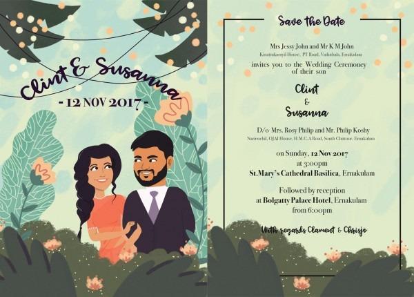 Illustrated Wedding Invite  )