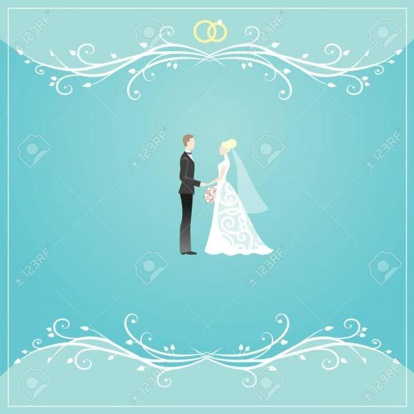 Elegant Floral Borders For Wedding Invitation Card Design Royalty