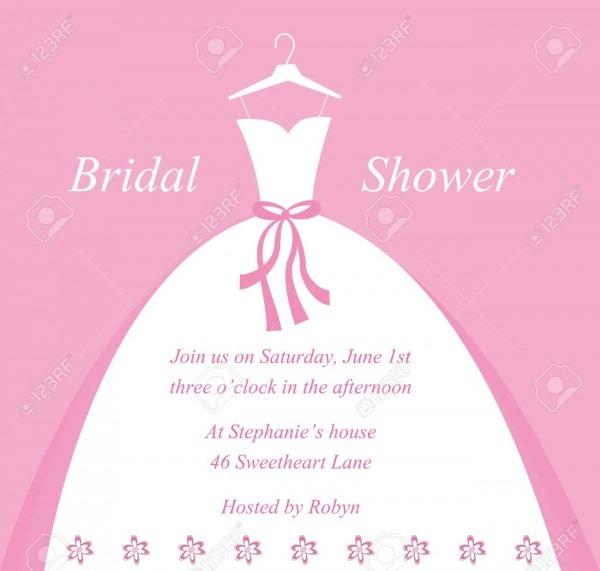 Wedding Bridal Shower Invitation Royalty Free Cliparts, Vectors